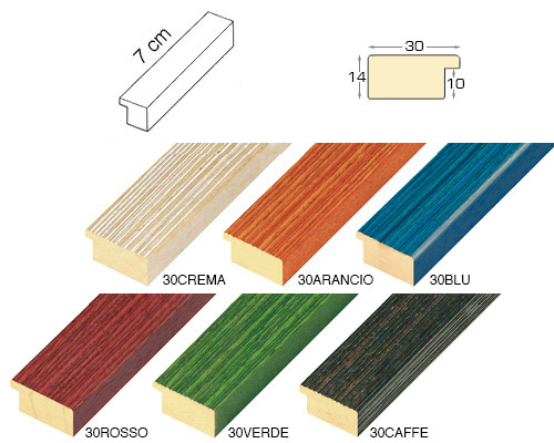 Complete set of straight samples of moulding 30