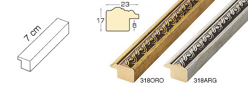 Complete set of straight samples of moulding 159 (2 pieces)