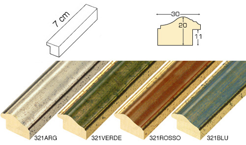 Complete set of straight samples of moulding 321