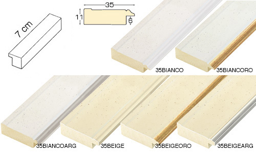 Complete set of straight samples of moulding 35 (6 pieces)