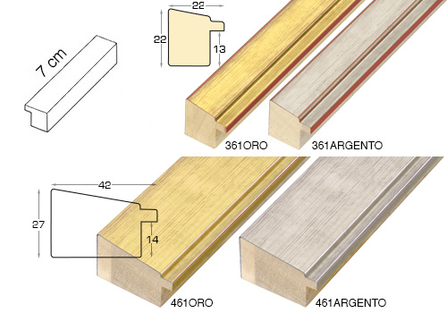 Complete set of straight samples of moulding 361 (4 pieces)