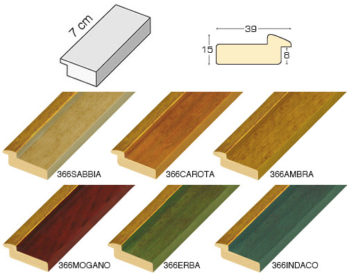 Complete set of straight samples of moulding 366 (6 pieces)