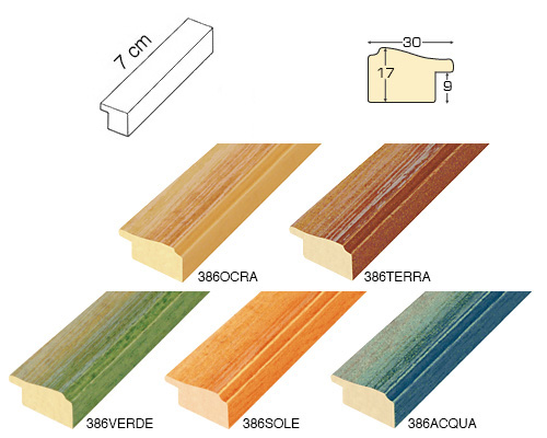Complete set of straight samples of moulding 386 (4 pieces)