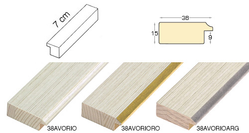 Complete set of straight samples of moulding 38 (0 pieces)