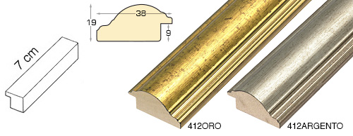 Complete set of straight samples of moulding 412 (2 pieces)