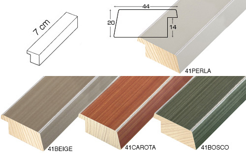 Complete set of straight samples of moulding 41 (5 pieces)