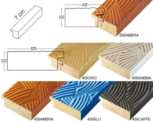 Complete set of straight samples of moulding 359 (6 pieces)
