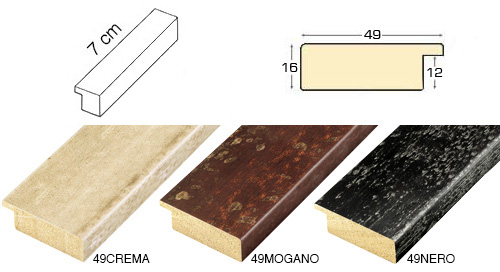 Complete set of straight samples of moulding 49