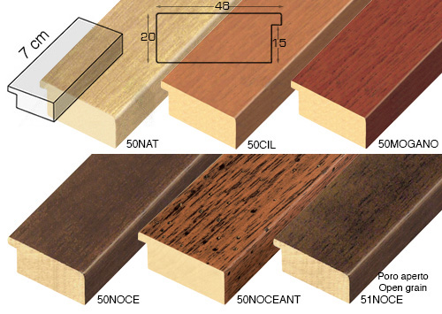 Complete set of straight samples of moulding 51 (6 pieces)