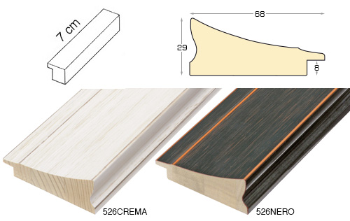 Complete set of straight samples of moulding 526 (2 pieces)