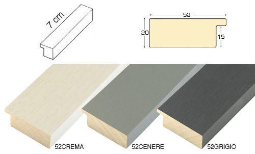 Complete set of straight samples of moulding 52 (3 pieces)