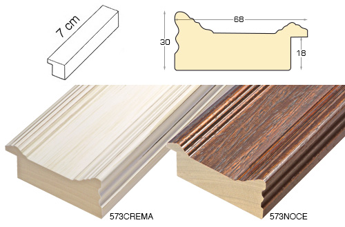 Complete set of straight samples of moulding 573 (2 pieces)