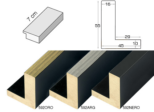 Complete set of straight samples of moulding 592 (3 pieces)