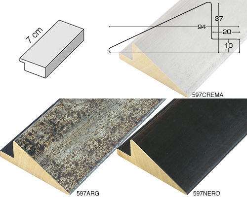 Complete set of straight samples of moulding 597 (3 pieces)