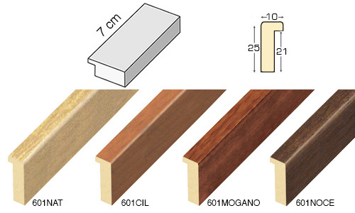 Complete set of straight samples of moulding 601