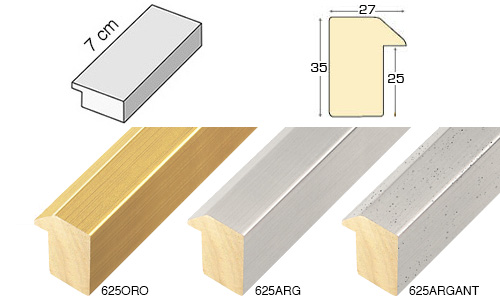 Complete set of straight samples of moulding 625 (3 pieces)