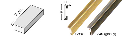Complete set of straight samples of moulding 6300 (4 pieces)