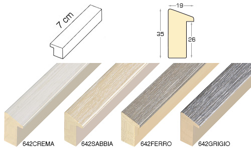 Complete set of straight samples of moulding 642 (4 pieces)