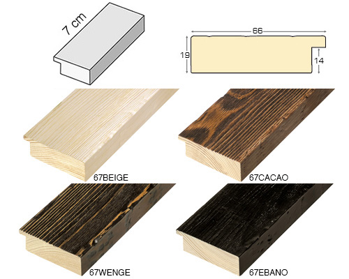 Complete set of straight samples of moulding 67 (4 pieces)