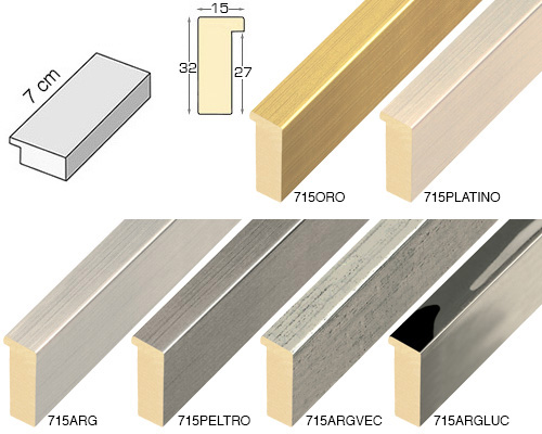 Complete set of straight samples of moulding 715