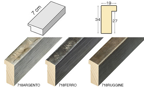 Complete set of straight samples of moulding 718 (3 pieces)
