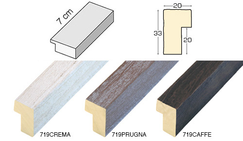 Complete set of straight samples of moulding 719