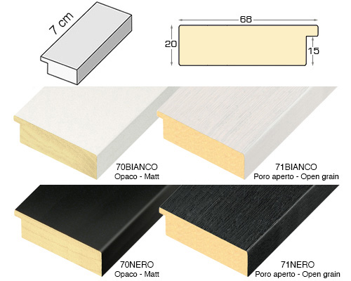 Complete set of straight samples of moulding 71 (4 pieces)