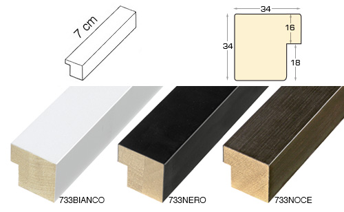 Complete set of straight samples of moulding 733 (2 pieces)