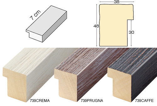 Complete set of straight samples of moulding 739 (3 pieces)