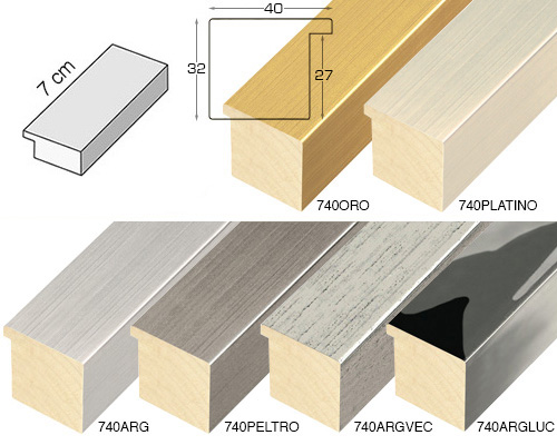 Complete set of straight samples of moulding 740 (6 pieces)