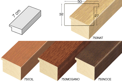 Complete set of straight samples of moulding 750 (4 pieces)