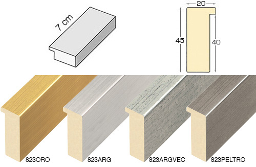 Complete set of straight samples of moulding 823 (4 pieces)