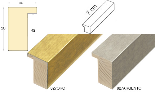 Complete set of straight samples of moulding 827 (2 pieces)