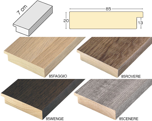 Complete set of straight samples of moulding 85 (4 pieces)