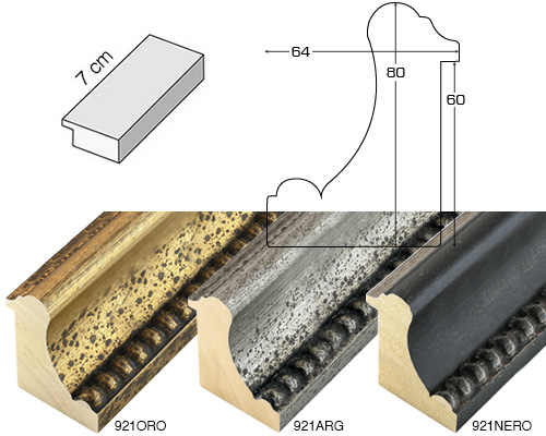 Complete set of straight samples of moulding 921