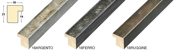 Straight sample of moulding 18ARGENTO