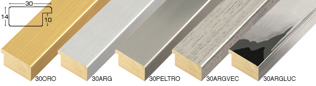 Corner sample of moulding 30ORO