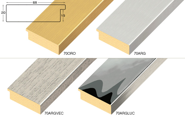 Complete set of straight samples of moulding 70