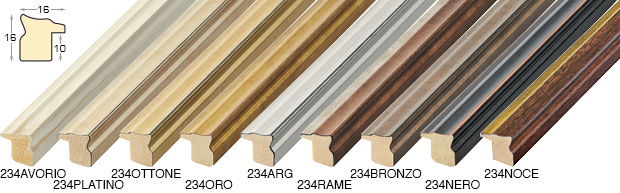 Complete set of straight samples of moulding 234