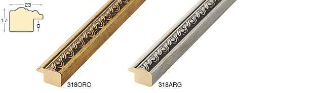 Complete set of corner sample of moulding 318 (2 pieces)