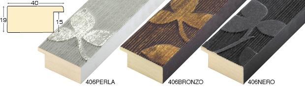 Corner sample of moulding 406PERLA
