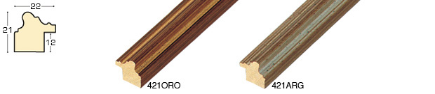 Complete set of straight samples of moulding 421