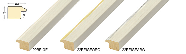 Complete set of straight samples of moulding 22 (3 pieces)