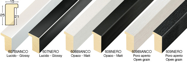 Straight sample of moulding 608BIANCO