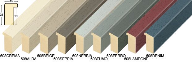 Corner sample of moulding 608CREMA