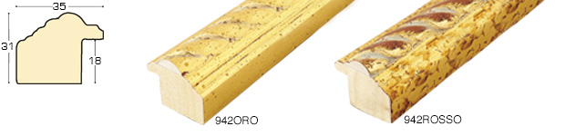 Straight sample of moulding 942ORO