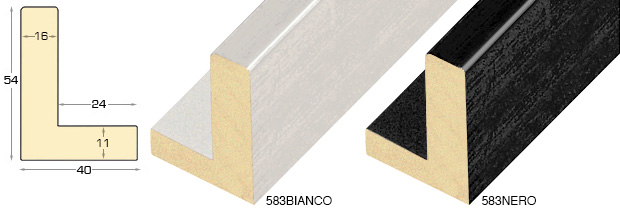 Complete set of straight samples of moulding 583 (2 pieces)