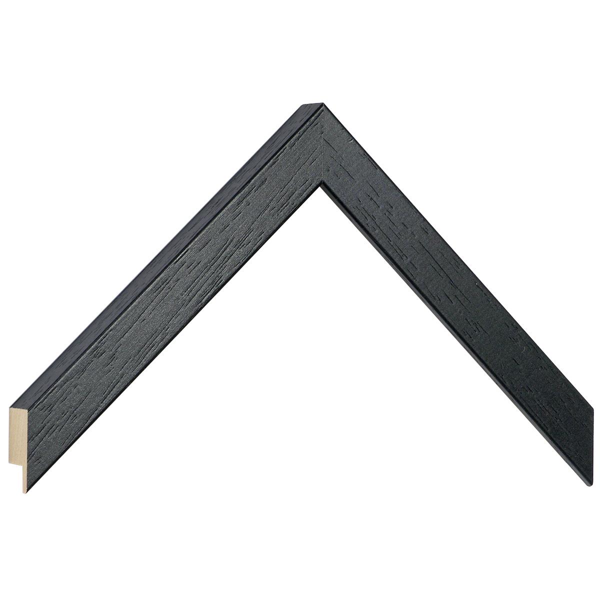 Moulding ayous, width 20mm height 20 - Black, open grain