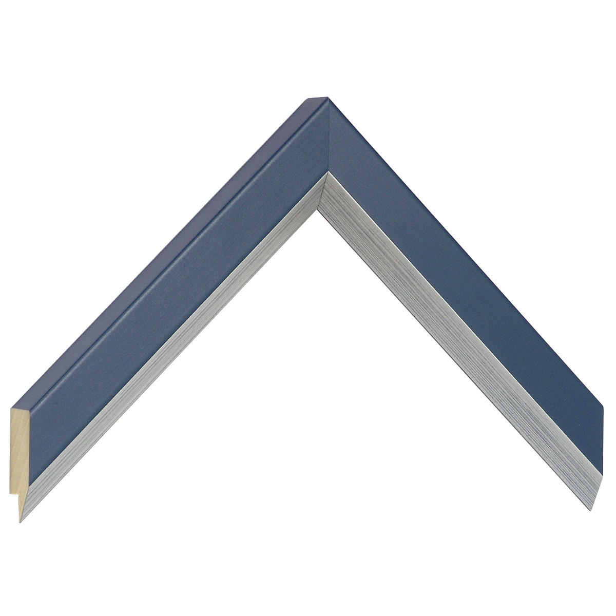 Moulding ayous, width 28mm height 20 - Blue