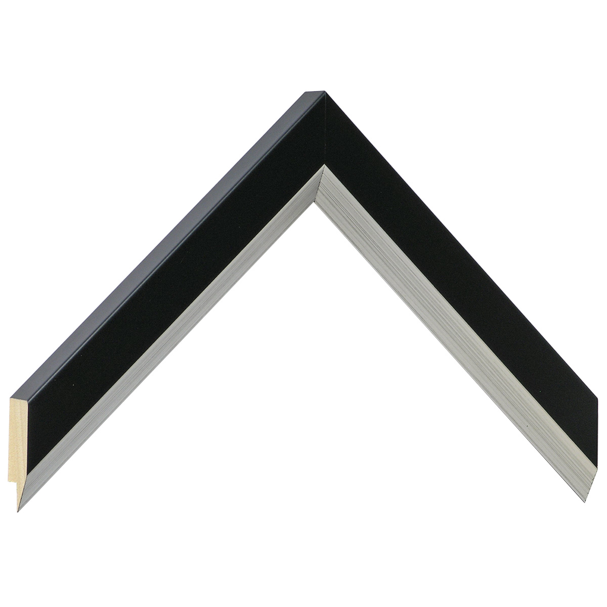 Moulding ayous, width 28mm height 20 - Black